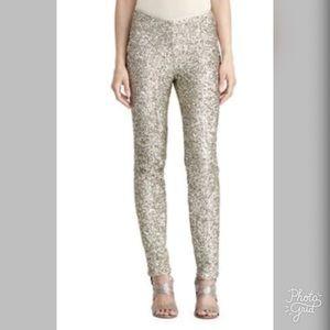Ralph Lauren Sequined Skinny Pants, Pewter-ChicEwe